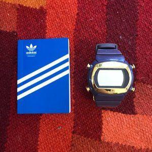 Purple Adidas Sports Watch w/ Gold Accents